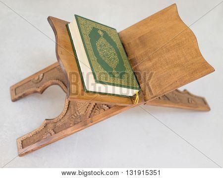 Koran on traditional table