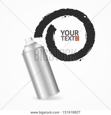 Aluminium Spray Can Write Speech Bubble. Vector illustration