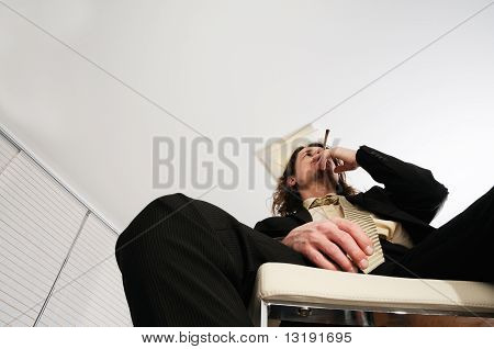 Man Smoking Weed
