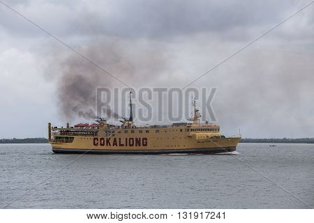 CEBU PHILIPPINES - FEBRUARY 09 2014 : Cokaliong Shipping Lines is a shipping line based in Cebu City Philippines. It operates both passenger and cargo ferries on eight routes between islands