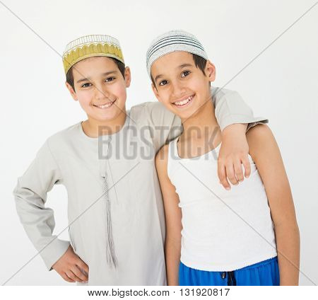 Happy Arab boys