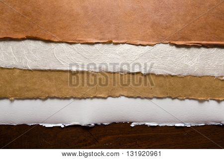Collection of textured paper background edges for scrap-booking