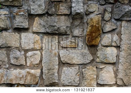 massive wall of sandstone blocks - texture background