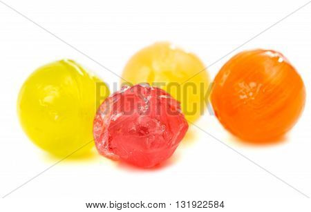 color candy lollipops isolated on white background