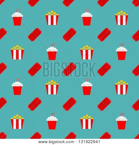 Movie Cinema seamless pattern background. Can be used for wrapping paper