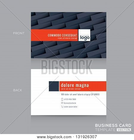 modern dark grey business card name card design template