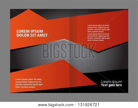 Vector brochure template design. Professional business flyer template