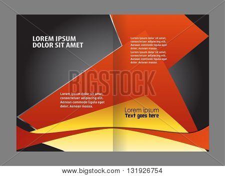Abstract Wavy bi-fold Brochure design vector Template