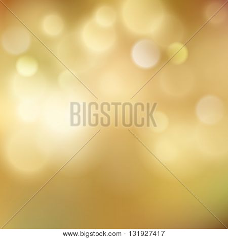 Abstract colorful bokeh light backgrounds blur bokeh blurred blurry office gold orange background. Vector illustration