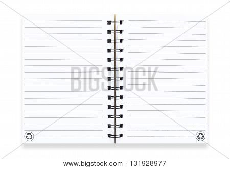 The Note book isolated on white background