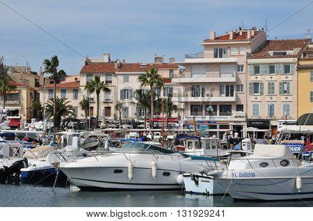 Sanary sur Mer France - april 20 2016 : boats in the port