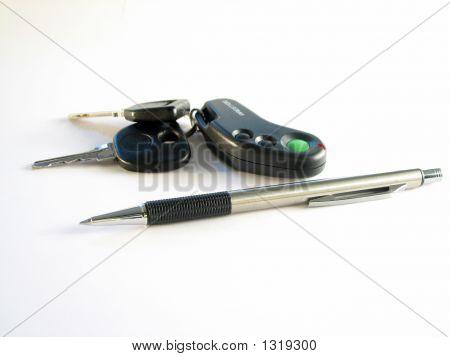 Pen  And Car Keys