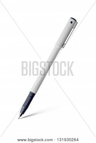 The gray pen isolated on white background