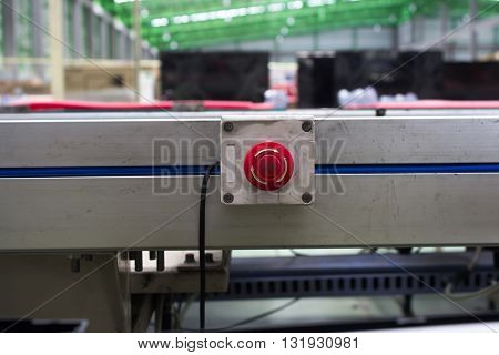 emergency stop button line assembly equipment, box