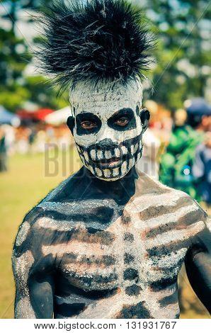 Skeleton In Papua New Guinea