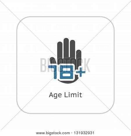 Age Limit Icon. Flat Design Isolated Illustration.