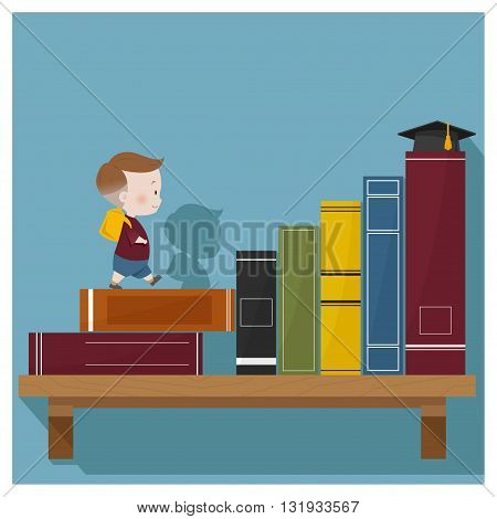 Education is superpower to success ,vector ,illustration