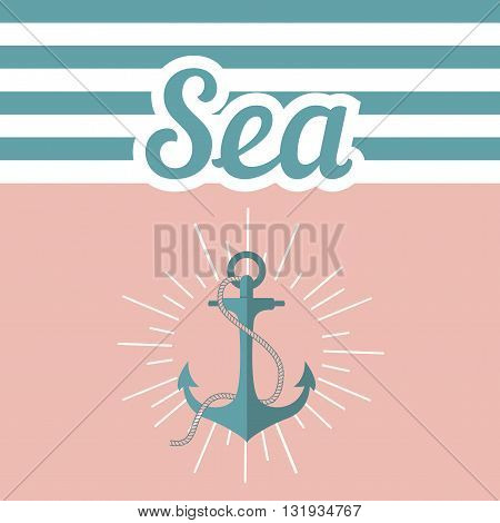 Illustration with the anchor text and the inscription. Vector anchored on a pink background