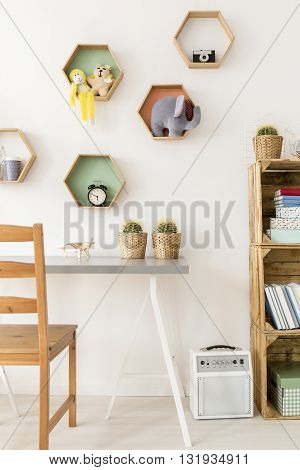 Shot of a cosy minimalist room for children