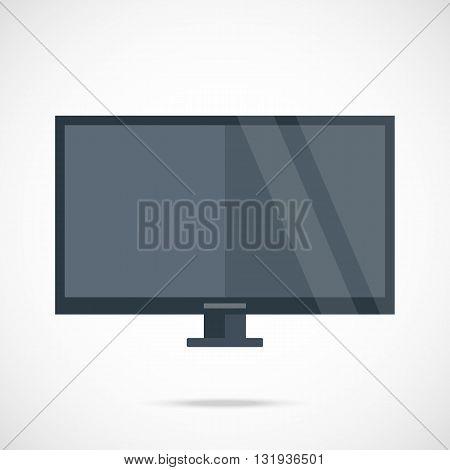 Smart TV. Flat screen TV vector illustration