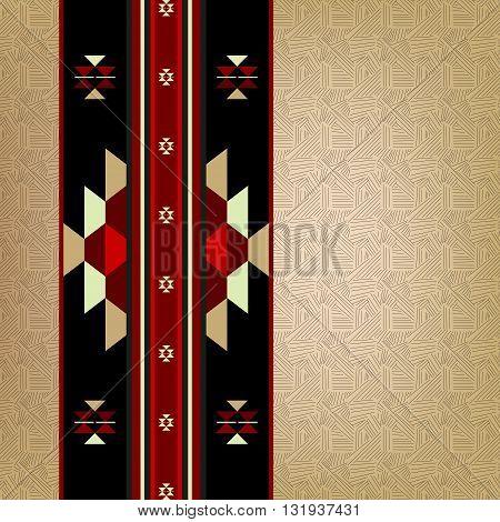 A Detailed Traditional Arabian Sadu Rug Motif