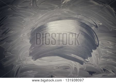 Empty balckboard with chalk and wet traces background, , retro toned