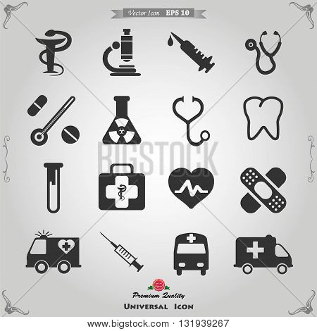 Set of medical icons vector illustration. Medical icons