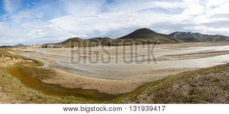 River and mountains nearLandmannalaugar, Iceland