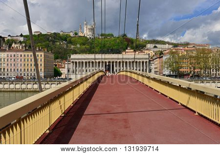 Lyon France - april 13 2016: the neoclassical law court in historical saint jean district