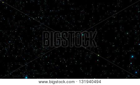 Night sky. Stars in night sky. Background illustration vector format