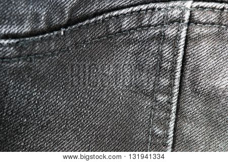 Old Black Jeans Texture And Background