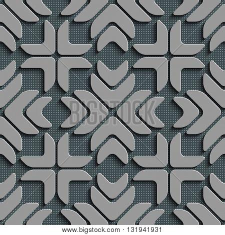 Seamless Star Pattern. Vector Background. Gray Regular Texture