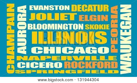 image relative to usa travel illinois state cities list