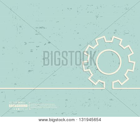 Creative vector gear wheel. Art illustration template background. For presentation, layout, brochure, logo, page, print, banner, poster, cover, booklet, business infographic, wallpaper, sign, flyer.