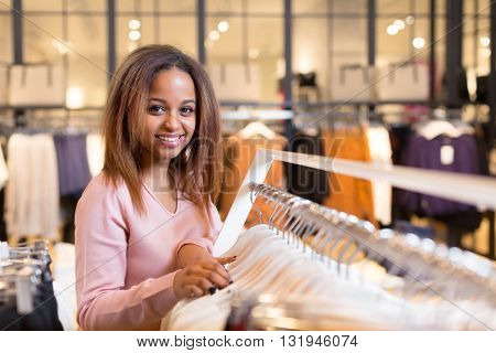 Young woman in a store