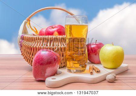 Cider - Hot Apple Beverage On Wooden Table
