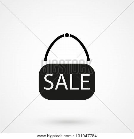 Sale Icon Black Vector On White Background