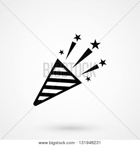 Firecracker Icon Black Vector On White Background
