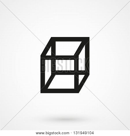Cube Icon Black Vector On White Background