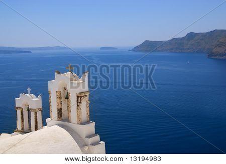 Orthodox church on Santorini island (Greece)