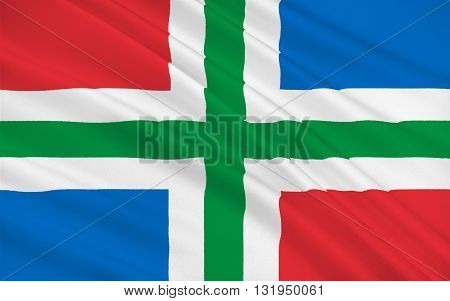 Flag of Groningen is the northeasternmost province of the Netherlands