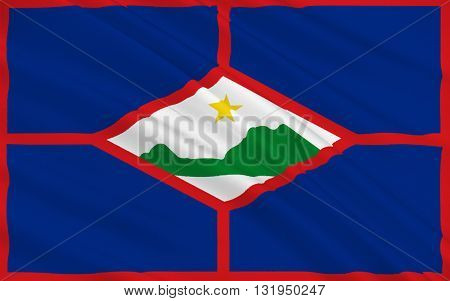 Flag of Sint Eustatius also known affectionately to the locals as Statia of the Netherlands