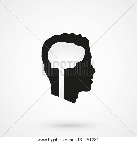 Brain Icon Vector Black Vector On White Background