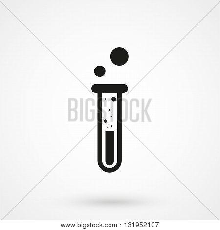 Test Tube Icon Black Vector On White Background