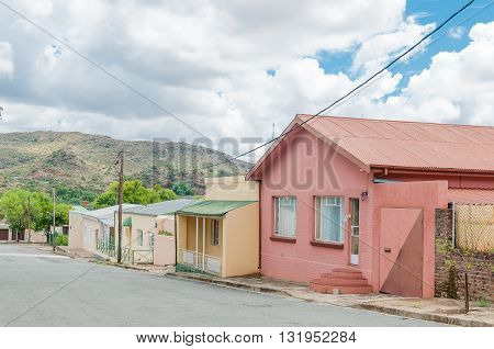 A street scene with old houses in Colesberg Northern Cape Province of South Africa.