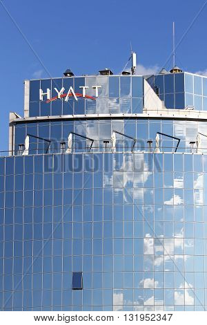 Facade Of Hyatt Hotel Building In Kyiv, Ukraine