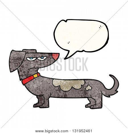 freehand speech bubble textured cartoon annoyed dog