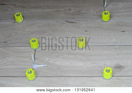 Tiling Works In A Building Site