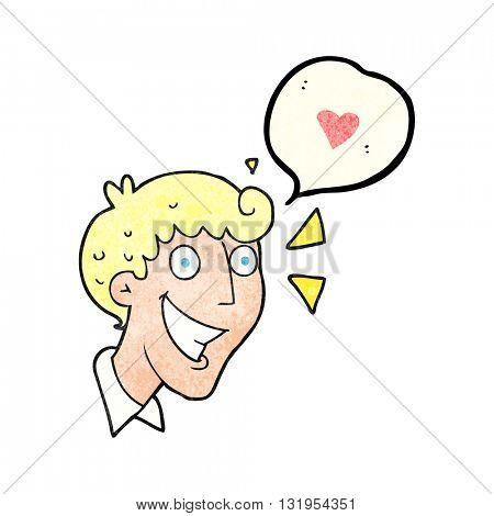 freehand speech bubble textured cartoon excited man