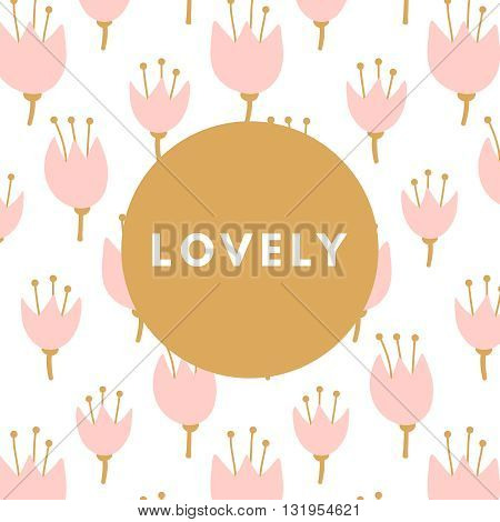 Creative girlie printable journaling card. Lovely princess. Dulcet sweetie girl. Girlie print. Romantic cute poster. Minimalism design for banner, flyer, wallpaper
